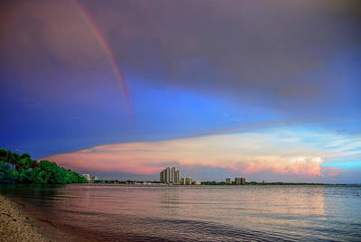 Beach Photograph - Falling Rainbow by Michael Frizzell