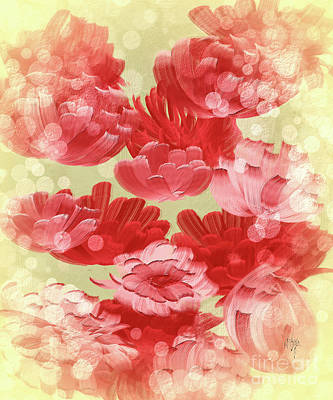 Digital Art - Falling Roses by Lois Bryan