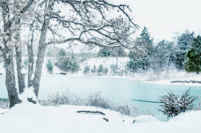 Photograph - Falling Snow At Lake Murray by Tamyra Ayles
