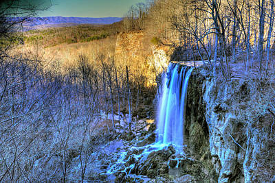 Photograph - Falling Spring Falls by Don Mercer
