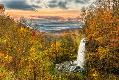 Photograph - Falling Spring Falls by Russell Pugh