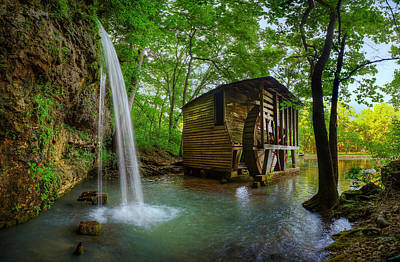 Photograph - Falling Springs Mill by Robert Charity