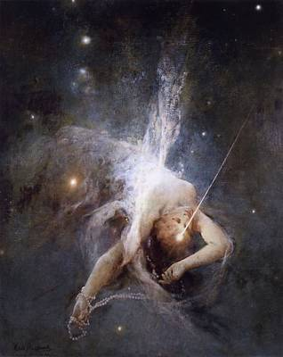 Painting - Falling Star by Witold Pruszkowski