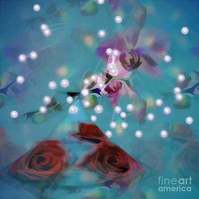 Photograph - Falling Stars Floral Fantasy by Renee Trenholm