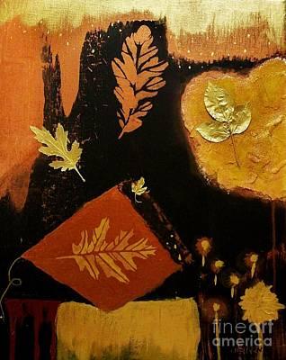 Fall Colors Mixed Media - Falling Things by Marsha Heiken