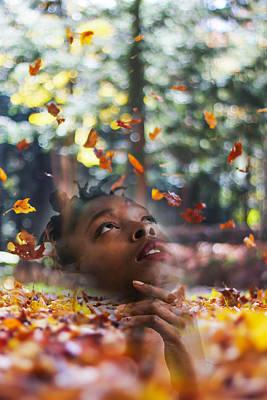 Black Women Photograph - Falling Thoughts by Britten Adams
