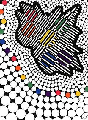 Drawing - Falling Through The Rainbow by Angela RaeAnn