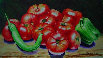 Painting - Falling Tomato by Ron Sylvia