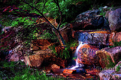 Photograph - Falling Water At Honor Heights Park by Tamyra Ayles