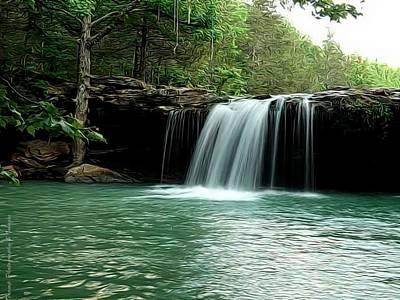 Digital Art - Falling Water Falls by Wesley Nesbitt