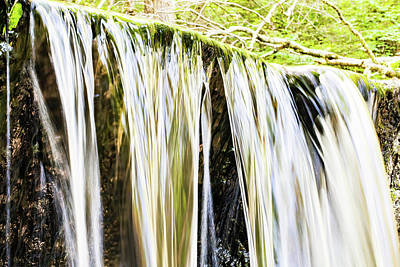 Falling Water Mirror Art Print