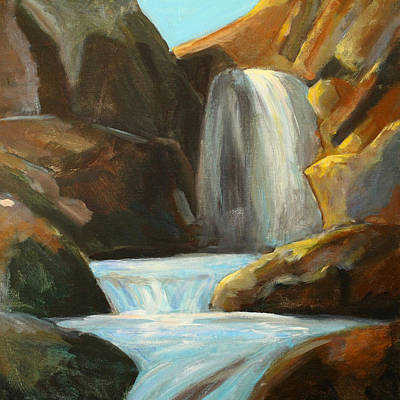 Painting - Falling Water by Nancy Merkle