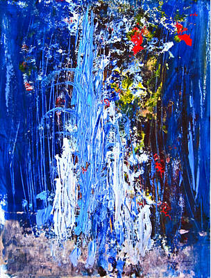Painting - Falling Water by Penfield Hondros