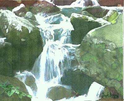 Painting - Falling Waters by Joseph Barani