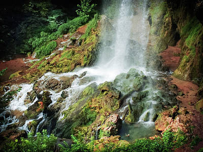 Hot Creek Photograph - Falling Waters by Karen Wiles