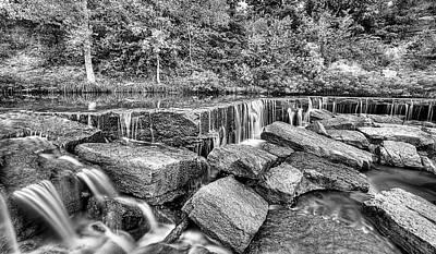 Falling Waters On Deep Creek Art Print by JC Findley