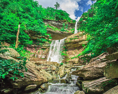 Art Print featuring the photograph Falling Waters by Paula Porterfield-Izzo