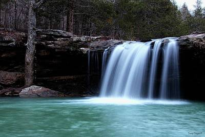 Photograph - Falling Waters Waterfall by Wesley Nesbitt
