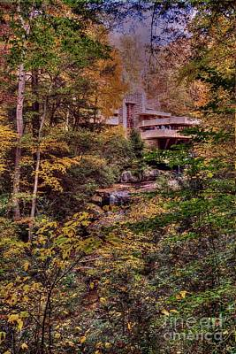Photograph - Fallingwater - Fall 2 by David Bearden