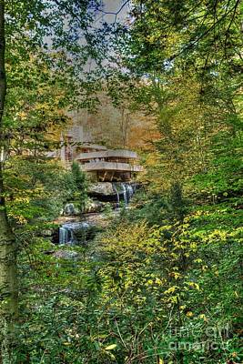 Photograph - Fallingwater - Fall 4 by David Bearden