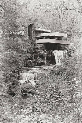Photograph - Fallingwater In Bw by Traci Law