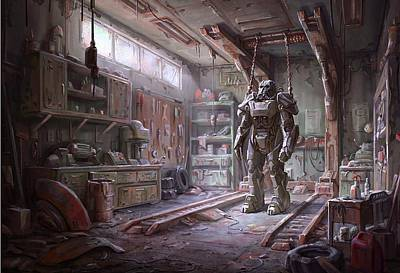 Chain Mixed Media - Fallout 4 Armour by Movie Poster Prints