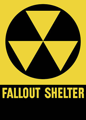 Crisis Mixed Media - Fallout Shelter Sign by War Is Hell Store