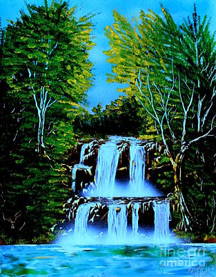Painting - Falls 01 E by Greg Moores