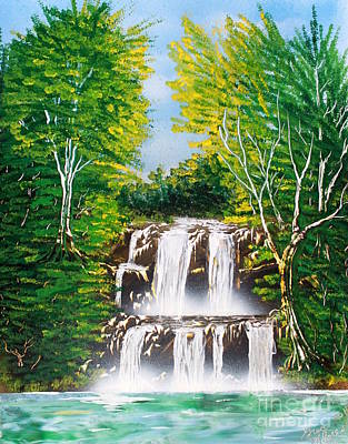 Art Print featuring the painting Falls 01 by Greg Moores
