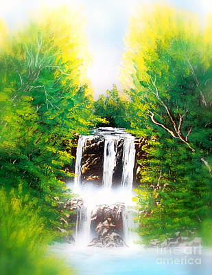 Painting - Falls 02 E by Greg Moores