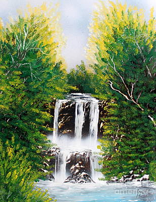 Art Print featuring the painting Falls 02 by Greg Moores