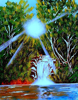 Painting - Falls 03 E by Greg Moores