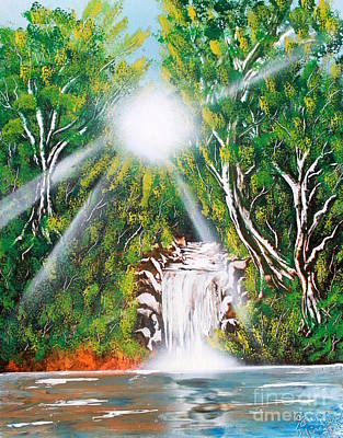 Art Print featuring the painting Falls 03 by Greg Moores