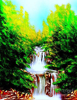 Painting - Falls 04 E by Greg Moores