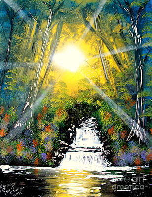 Painting - Falls 05 E by Greg Moores