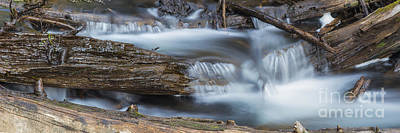 Falls Along Soda Creek Art Print by Twenty Two North Photography