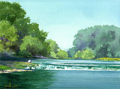 Falls At Estabrook Park Art Print