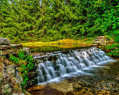 Photograph - Falls At Hickory Run by Nick Zelinsky