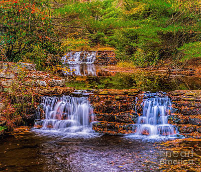 Photograph - Falls At Hickory Run Pa by Nick Zelinsky
