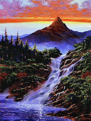 Painting - Falls At Monument Park by David Lloyd Glover