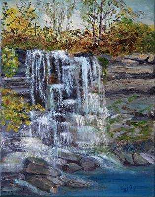 Painting - Falls At Rock Glen by Peggy King