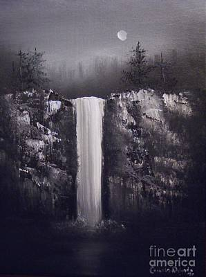 Painting - Falls By Moonlight by Crispin  Delgado