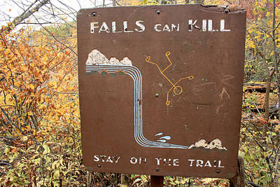Photograph - Falls Can Kill by George Jones
