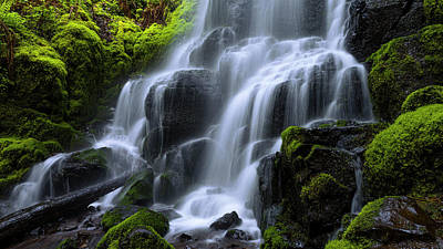Stream Photograph - Falls by Chad Dutson
