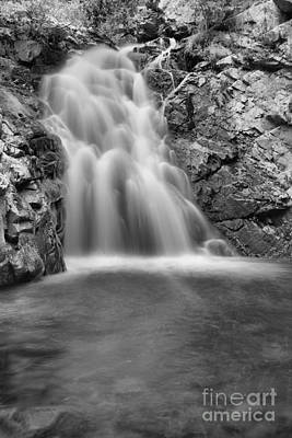 Photograph - Falls Creek Falls Into The Pool Black And White by Adam Jewell