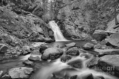 Photograph - Falls Creek Falls Landscape Black And White by Adam Jewell