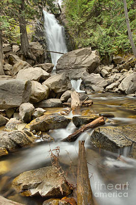 Photograph - Falls Creek Falls Over The Logs by Adam Jewell