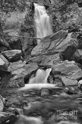 Photograph - Falls Creek Falls Portrait Black And White by Adam Jewell
