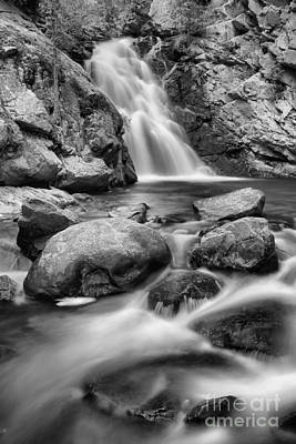 Photograph - Falls Creek Falls Streams Black And White by Adam Jewell