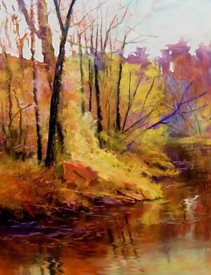 Painting - Fall's Creekside by Joseph Barani